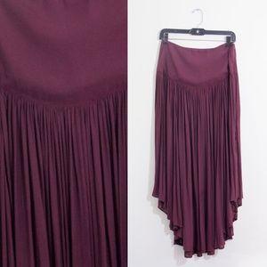 Free People Purple Flowy Maxi Skirt